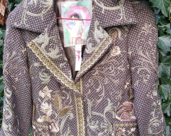 original Sale jacket bohemian heavy embroidered stunning immaculate rare wearable art s