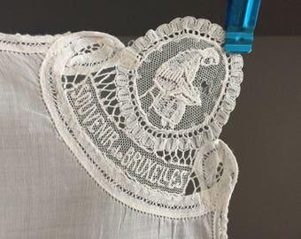 Bruxelles Lace Hankie, Wedding Hankie, Brussels Lace hankie, Souvenir de Bruxelles handkerchief,Lace hankie,