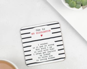 Tom Hiddleston Gift - Ode To Tom Hiddleston Coaster - Gift For Girlfriend - Present For Wife - Mother's Day Gift - The Night Manager