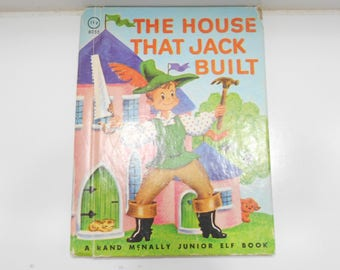 Vintage 1942, The House That Jack Built, A Rand McNally Junior Elf Book, Rand McNally Publishers