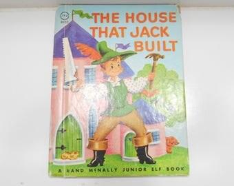 Vintage 1942 Copyright (20) The House That Jack Built, A Rand McNally Junior Elf Book