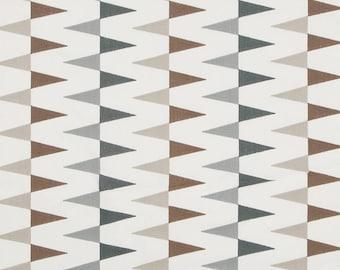 Dark Grey Upholstery Fabric - Modern Taupe Geometric Fabric for Furniture - Embroidered Fabric - Custom Grey White Geometric Pillows