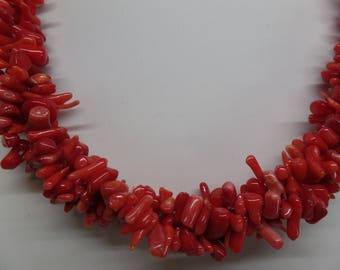 Fabulous Vintage Red Coral Torsade Necklace