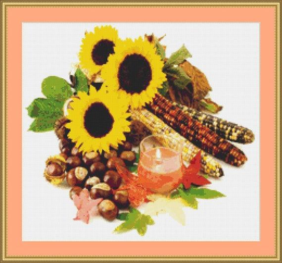 Autumn Still Life II Cross Stitch Pattern /Digital PDF Files /Instant downloadable