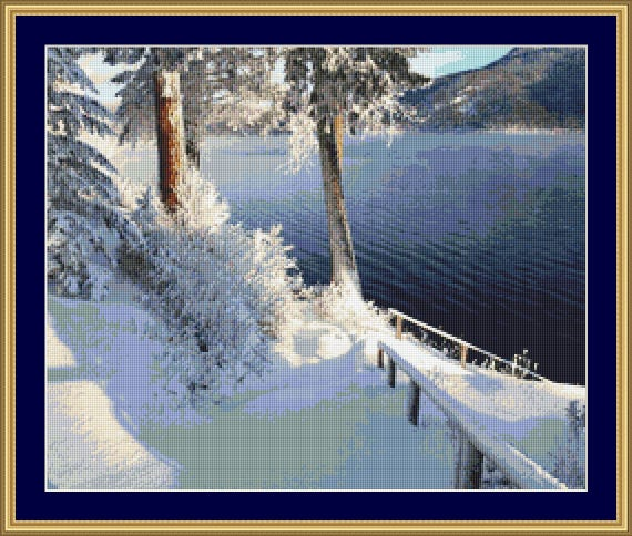 Sunny Winter Day Cross Stitch pattern /Digital PDF Files /Instant downloadable