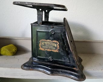 Vintage Black Scale Slant Scale Perfection Industrial Farmhouse Decor