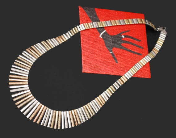 Cleopatra Fringe Necklace - Italy Italian - Sterling silver - Gold plated - mix metal - Collar choker necklace