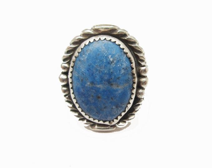 Sodalite Ring - Blue Gemstone - Sterling Silver - denim lapis - size 10 1/2 ring