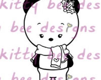Ms Snow Panda Digital Stamp