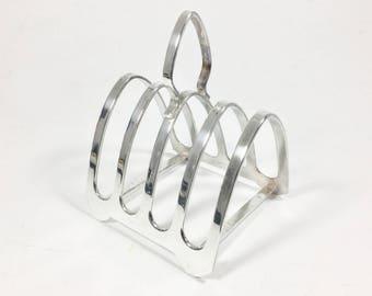 Vintage silver plated toast rack, 4 slice toastrack EPNS Toast rack, Tableware, Silverware, Breakfast serving, Letter rack