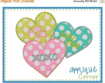 40% OFF 922 Valentine Words Heart Valentine's Day applique design in digital format for embroidery machine by Applique Corner