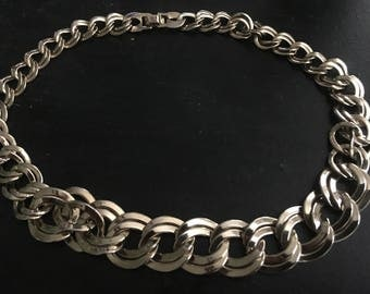 Beautiful Heavy Vintage Gold Chain Link NECKLACE