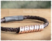 Anniversary Gifts For Men • Mens Personalized Jewelry • Copper Anniversary • Mens Bracelet • Copper Bracelet