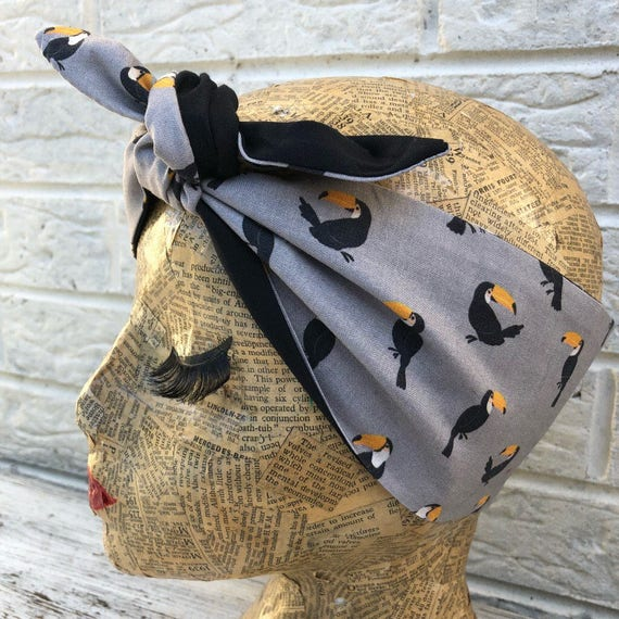 Toucan Parrot Headscarf Rockabilly Pinup 1950's Inspired