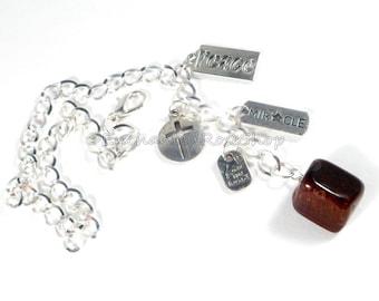 Brown Jasper Stone Car Ornament, Car Mirror Hanging, Healing Stones Car Mirror Hanging, You Are Loved Rearview Mirror Charm Christian Gifts