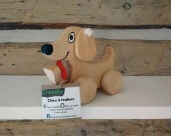 Hanging wooden dog