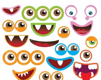 ON SALE INSTANT Download. Monsters 11. Monster eyes and monster mouths. Personal and commercial use.