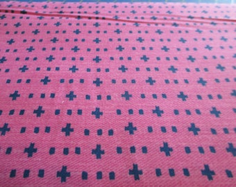 Quilting Weight Cotton Fabric Weave it Alone by Michael Miller in fuchsia 1 yard