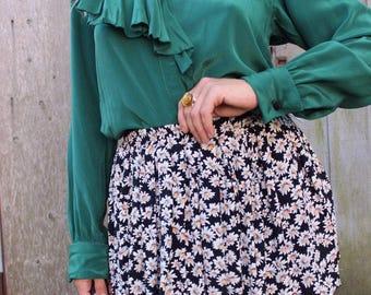 80s Calvin Klein silk blouse