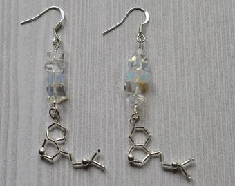 Biolojewelry -  Mini Opalite DMT The Spirit Molecule Earrings