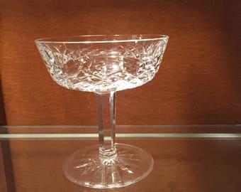 Waterford Champagne / Vintage Waterford Irish Crystal Champagne Glass / Lismore Pattern Crystal Dessert Stemware