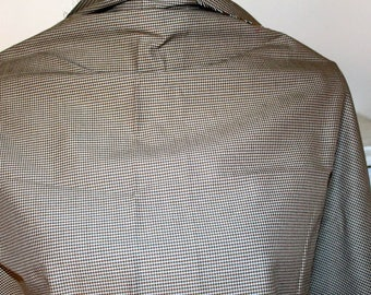 Brown cotton gingham fabric