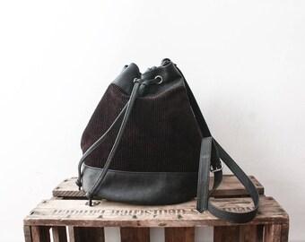 Corduroy Shoulder bag 80s Pouch Womens Purse Sac A Main