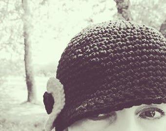 SALE! Black Crochet Cloche