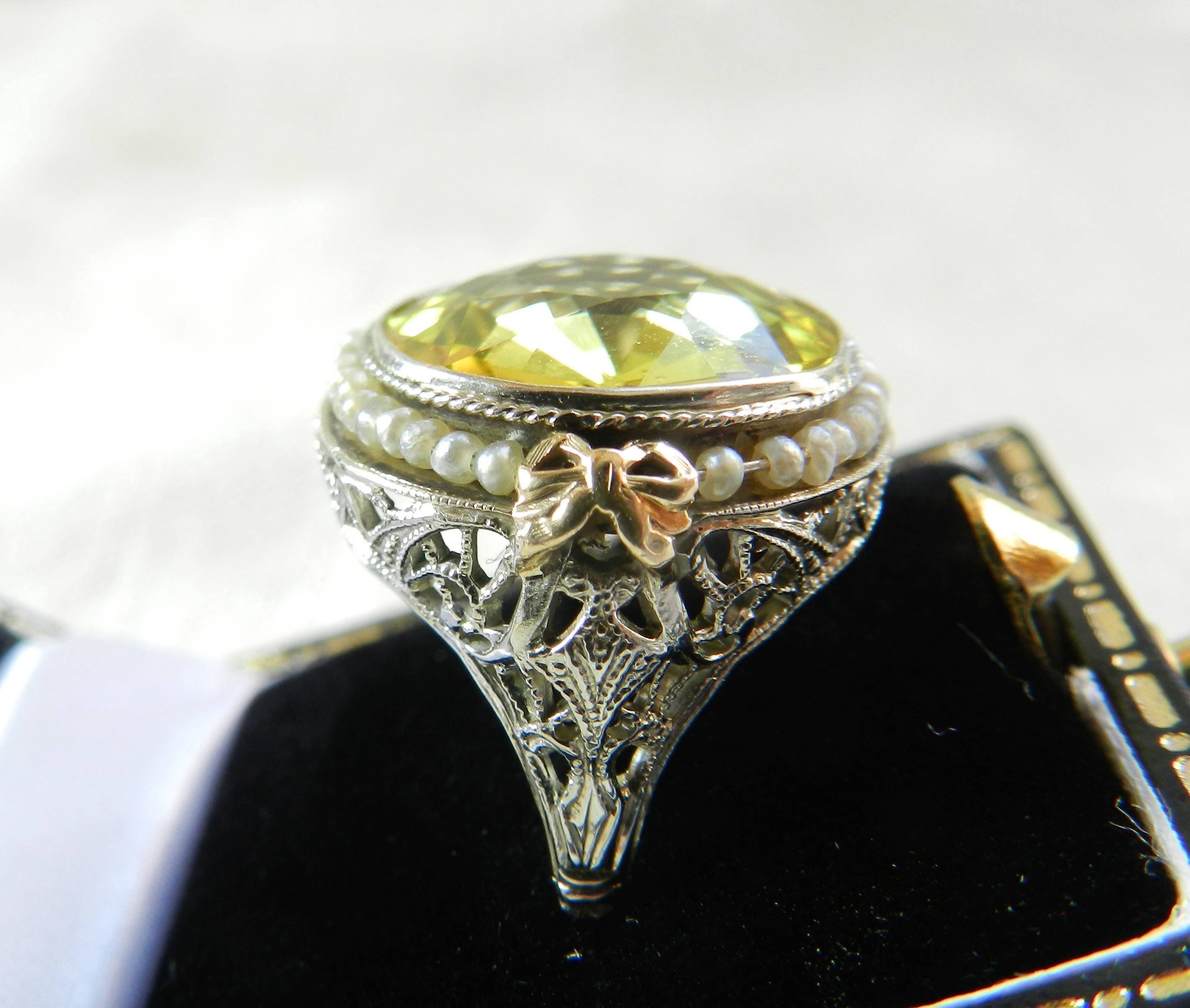 engagement sapphire yellow solid jewelry f white with diamonds authentic heavy gentlemen rings end high handmade o perfect in vvs fine so orange
