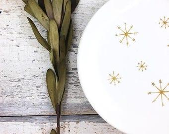 "SUMMER SALE Royal China Star Glow Mid-Century Plates 6.25"""