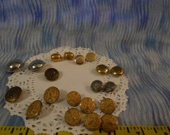 Vintage  Loose Metal Buttons -