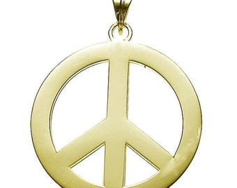 ON SALE Peace Pendant In Gold Vermeil