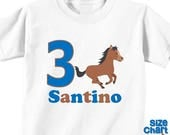 SALE Personalized Pony Horse Riding Horseback Birthday Party Shirt Boys 1st First 2nd 3rd 4th 5th 6th Birthday Party Horses Ponies Riders