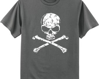 Pirate skull decal tee shirt