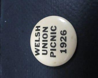 Welsh Union picnic button 1926