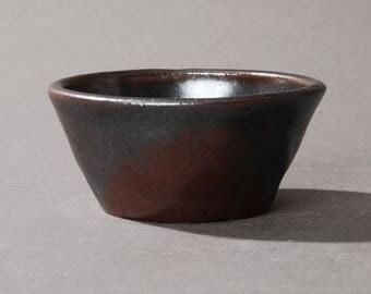 Mini Bonsai pot. Black and red #1