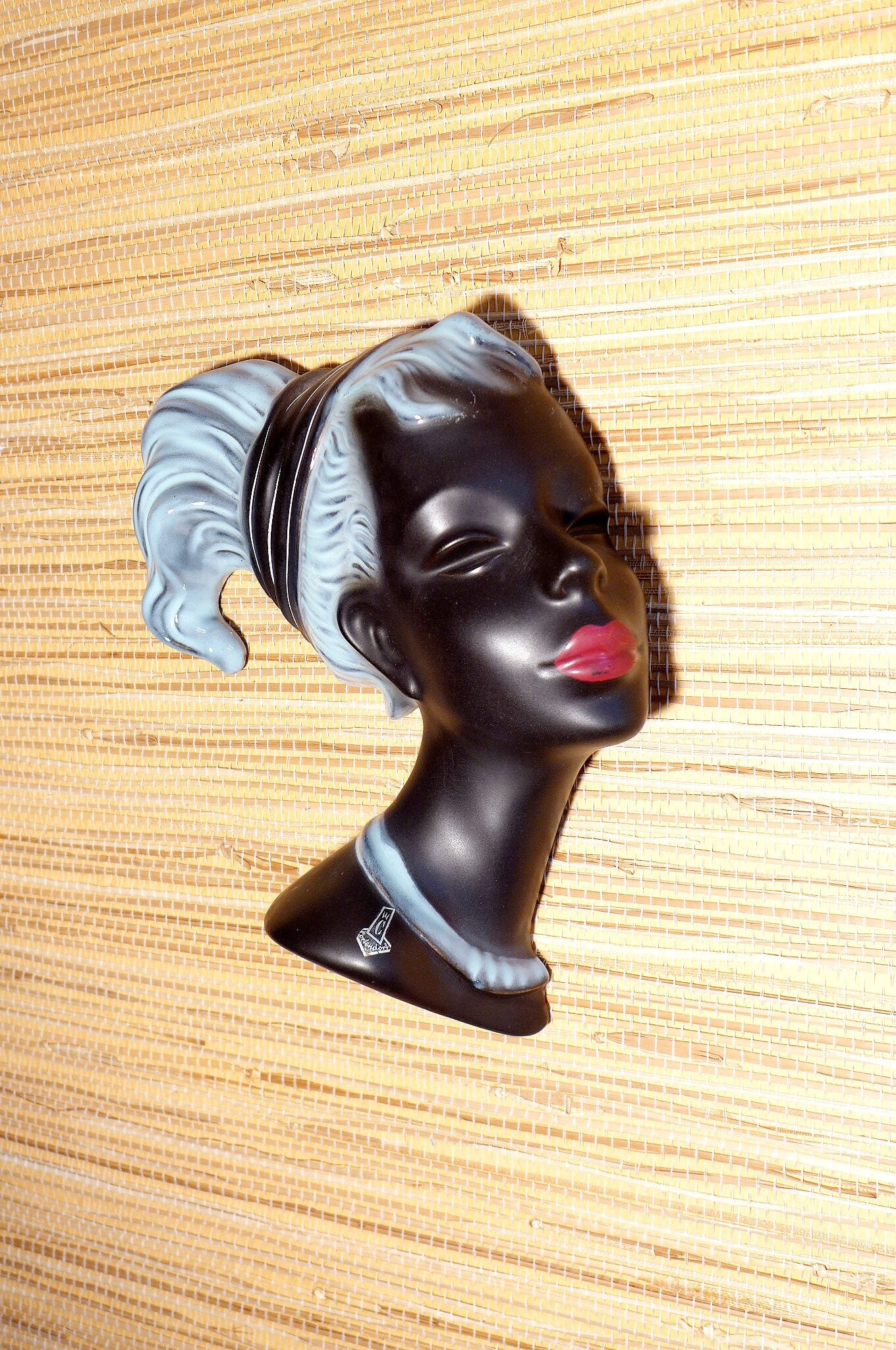Cortendorf Ceramic Woman Wall Mask - Lady Woman Wall Decor - Mid ...