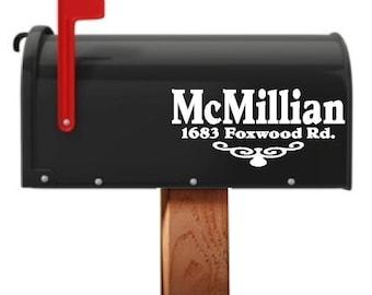 3 Piece Custom Mailbox Decals