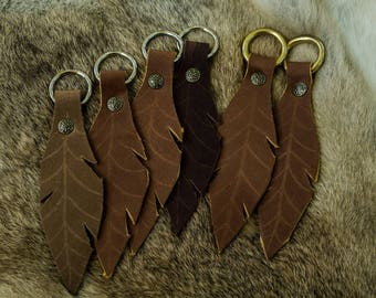 Norseman Crafts Leather Leaf Key Chain