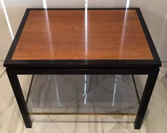 1960s Dunbar Rosewood U0026 Ebony End Table Edward Wormley Side Midcentury  Modern Brass