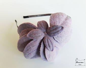 headband fascinator thousand purple leaves