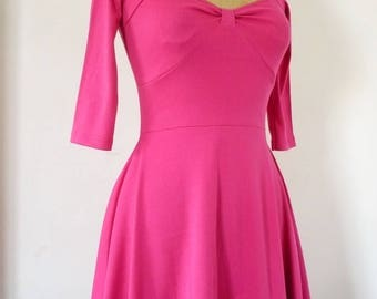 Peony pink knit short dress