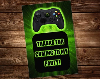Video Game Party Favor Tags