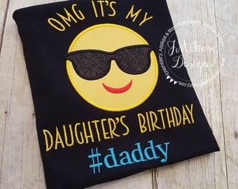 Family Birthday Emoji Applique shirt - Customizable -  Emoji Birthday Shirt 113a #daddy2