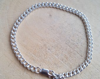 Sterling Silver Mens Bracelet, Boyfriend Gift, Mens Silver Bracelet