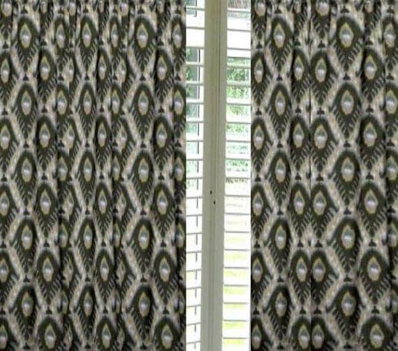 robert allen bold ikat curtains sale custom made drapesfrom 2 story extra long drapes to small window curtains these designer drapes
