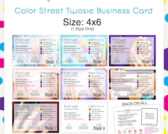 Color Street Twosie Card Style2 4x6 --Custom Digital Download