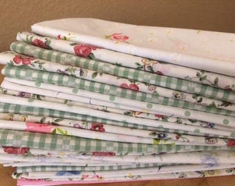 Shabby Chic, Farmhouse Chic, Vintage Fabric, Cloth Napkins, Set of 20, 20 inch, Weddings, Events, Everyday Meals, by CHOW with ME