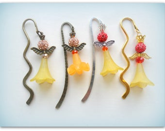 Bookmark Charm Reading Angels Yellow Angel Bookmark Angel Charm Gifts Children's Gifts