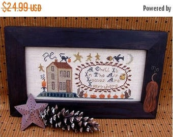 Fathers Day Sale SALE Homespun Elegance A Chill is in the Air Cross Stitch Kit